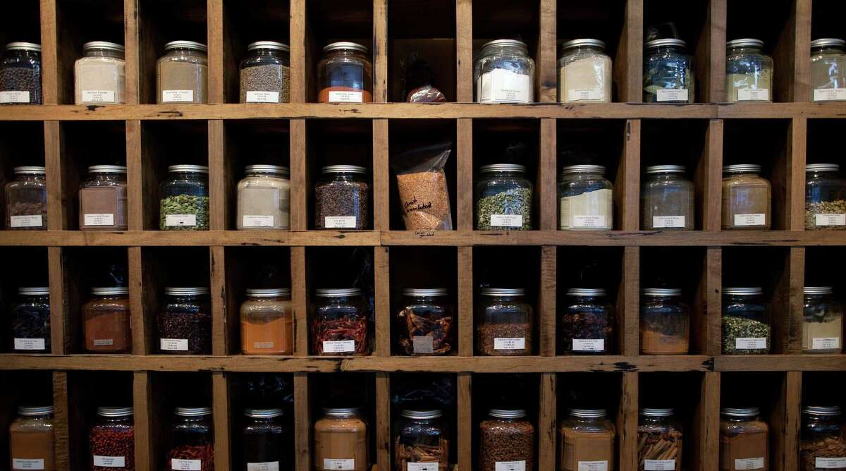 Spices on display at Whole Spice in Napa.
