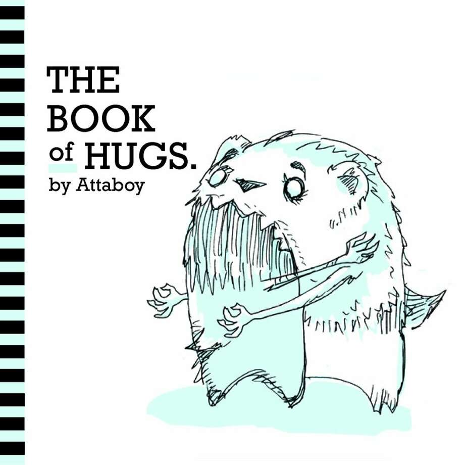 "Cover of ""The Book of Hugs,"" words and images by Attaboy"
