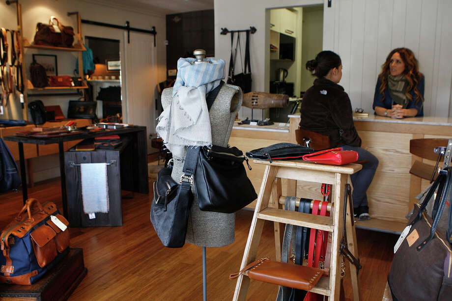 San Marco Fine Leather in West Portal is one of several newer shops in San Francisco's laid-back West Portal neighborhood, which now has two blow-dry bars to accompany the area's demographic shift. Photo: Liz Hafalia / The Chronicle / ONLINE_YES