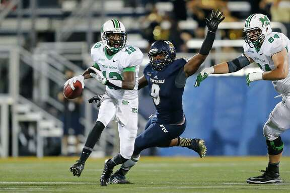 Marshall quarterback Rakeem Cato has thrown for 2,316 yards and 22 touchdowns this season.