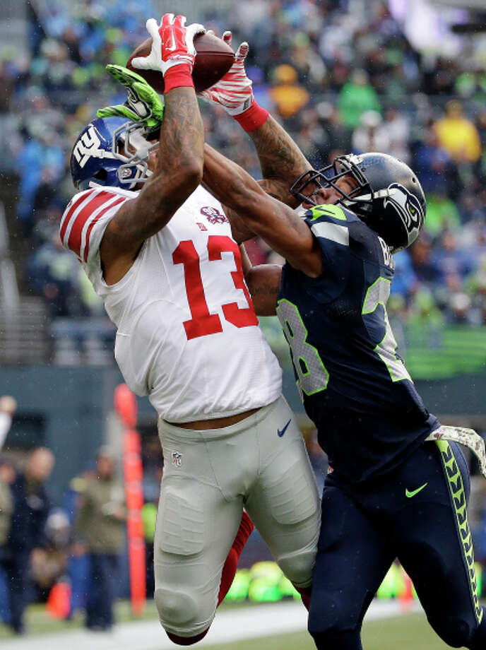 Receiver Odell Beckham (13) is playing well for the Giants. Photo: Elaine Thompson / Associated Press / AP
