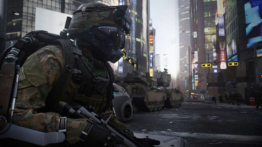 "The biggest change ""Call of Duty: Advanced Warfare"" brings to the series is the exosuit, which allows you to use covert cloaking, among other thing. Photo: Courtesy Activision"