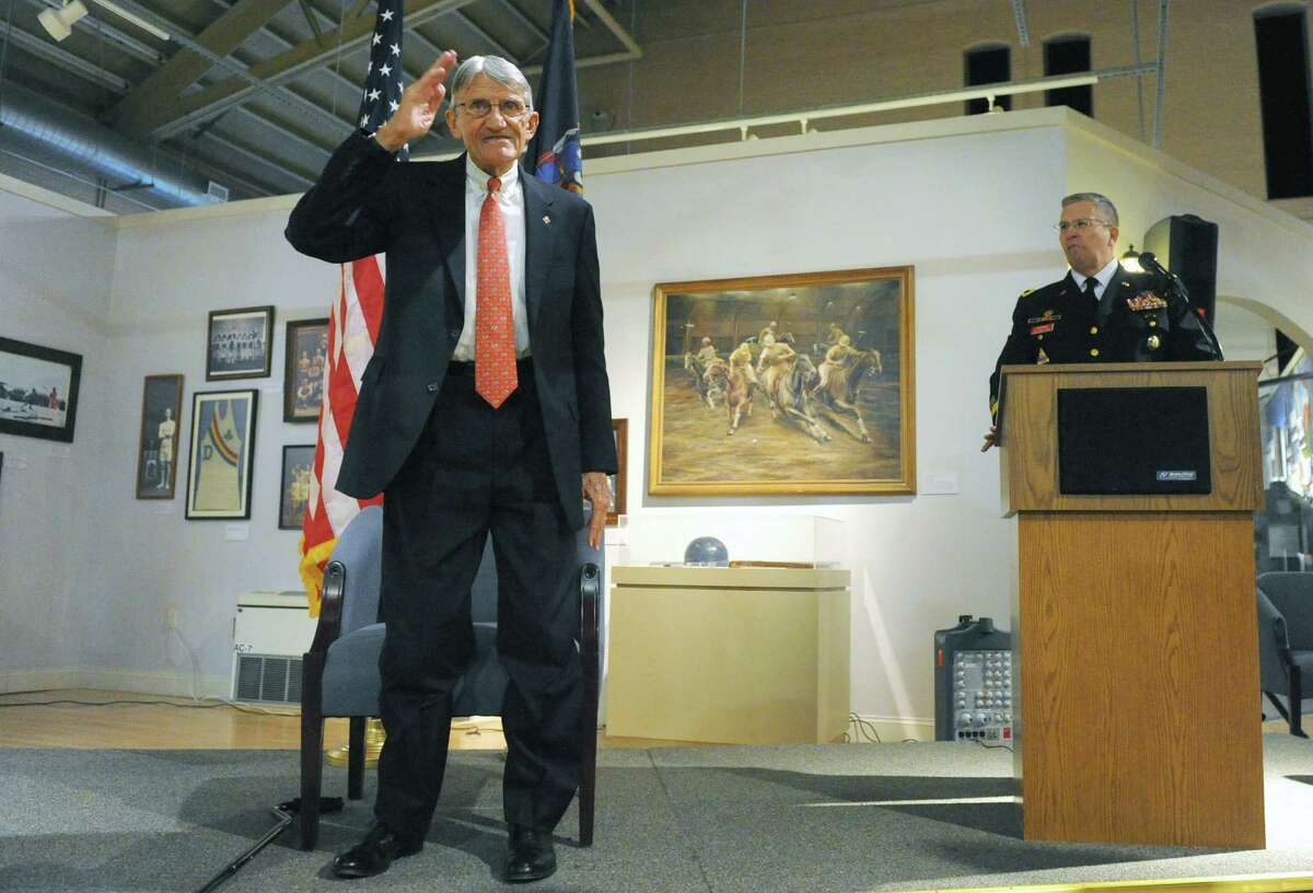 Retired Army Colonel Charles R. Johnson, a veteran of the Vietnam War, was honored as Veteran of Year during a ceremony at the New York State Military Museum on Saturday Nov. 15, 2014 in Saratoga Springs, N.Y. (Michael P. Farrell/Times Union)