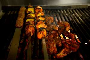 Skewers of traditional, flavorful meats fire on the grill at Al Basha Mediterranean Grill, located off the I-10 access road in Beaumont. Photo taken Wednesday, November 5, 2014 Kim Brent/@kimbpix