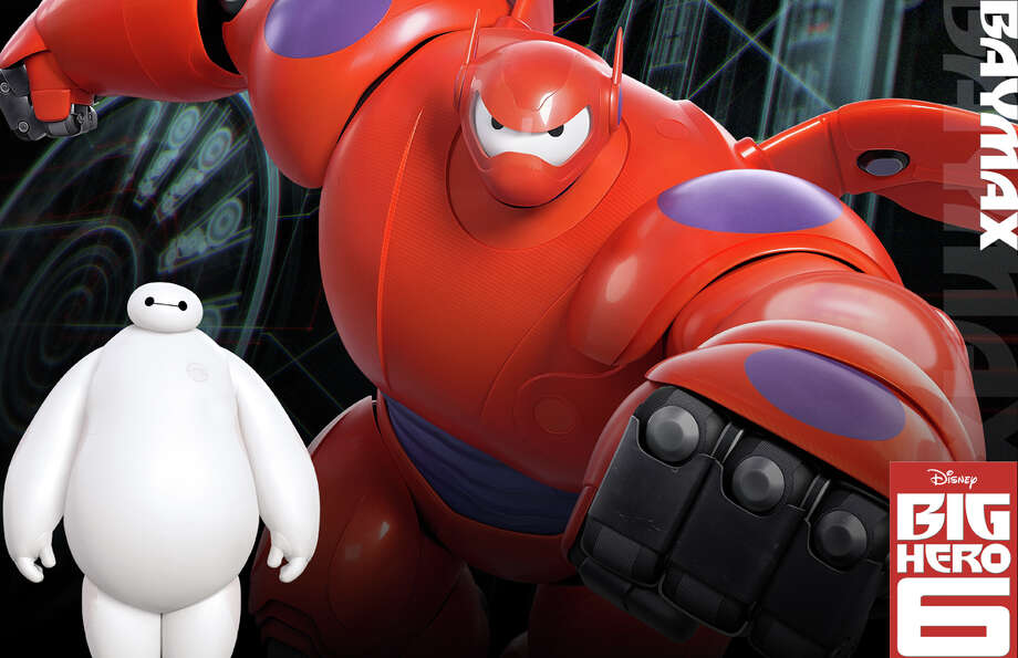 "Baymax, an inflatable, translucent vinyl robotic Healthcare Companion designed to ease pain, is featured in the new Disney animated movie, ""Big Hero 6."" Photo: Contributed Photo / Westport News"