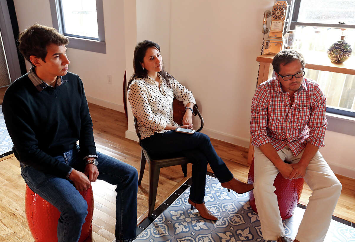 Jorge Herrero (right) owns the CommonWealth property; Jose Ramon Campos and Ethel Kruse own the business.