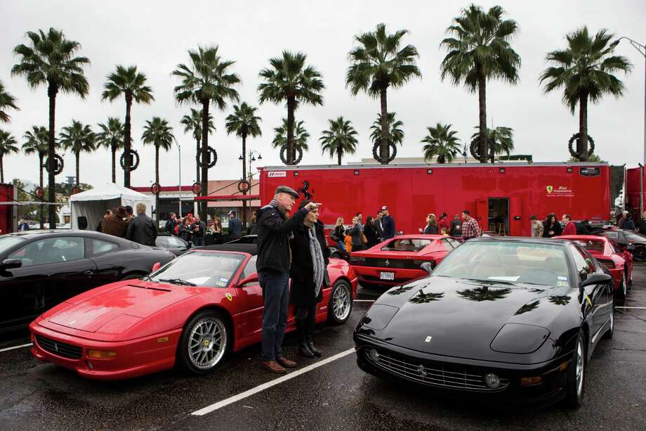 A variety of cars are on display during Highland Village Ferrari Fest on Sunday, Nov. 16, 2014, in Houston. Photo: Brett Coomer, Houston Chronicle / © 2014 Houston Chronicle
