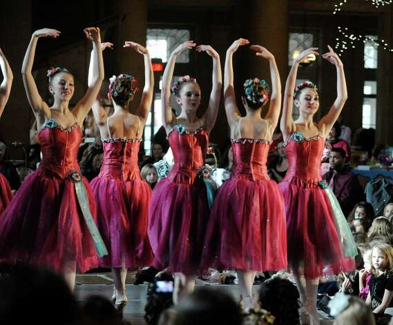 Dancers with the Northeast Ballet Company perform  during the Nutcracker Tea at the Hall on Springs at SPAC on Sunday, Nov. 16, 2014, in Saratoga Springs, N.Y.  The Northeast Ballet Company will perform the full Nutcracker Ballet at Proctors on Dec. 6th and 7th.   (Paul Buckowski / Times Union) Photo: Paul Buckowski / 00029501A