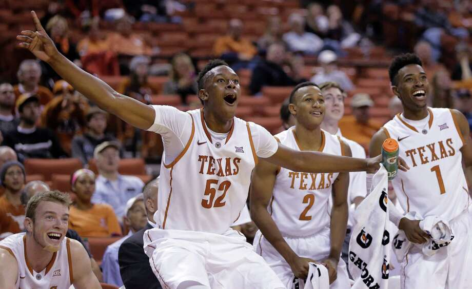 Myles Turner (52) and the rest of the No. 6 Longhorns will face their toughest test of the young season when Texas faces No. 1 Kentucky on Friday, Dec. 5, 2014. (AP Photo/Eric Gay) Photo: Eric Gay, Associated Press / AP