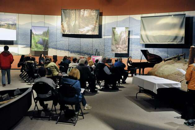 Pianist Daisy Lin performs in the Adirondack Hall at the New York State Museum during the Classical Music Showcase put on by the Albany Musicians' Association on Sunday, Nov. 16, 2014, in Albany, N.Y.   (Paul Buckowski / Times Union) Photo: Paul Buckowski / 00029500A