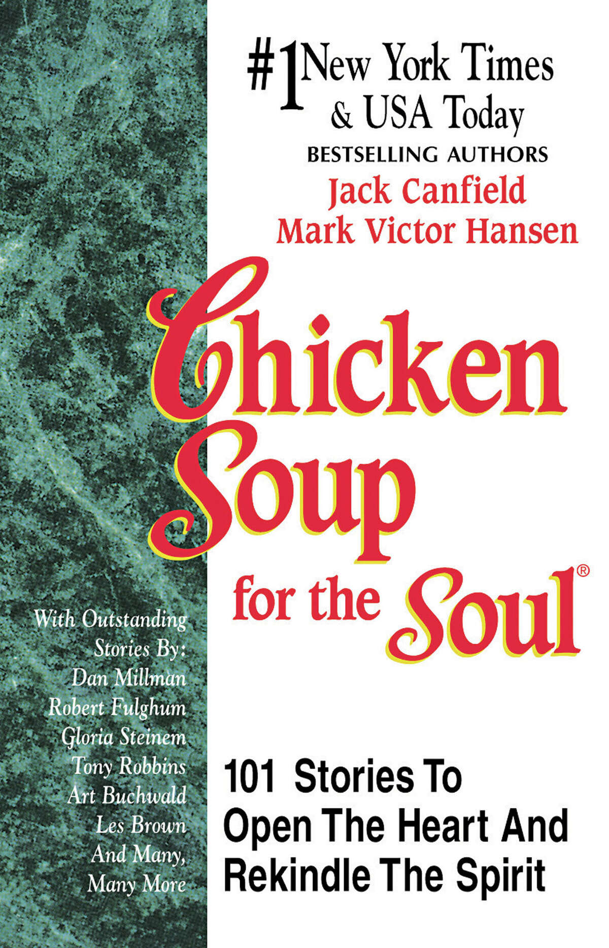 Any Chicken Soup for the Soul book (all ages) There are dozens of titles including pre-teen and teen of these inspirational books. These feel-good, true stories warm the heart.