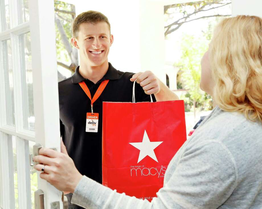 Macy's, which operates eight department stores in Houston, has begun offering same-day delivery in this and eight other major markets.