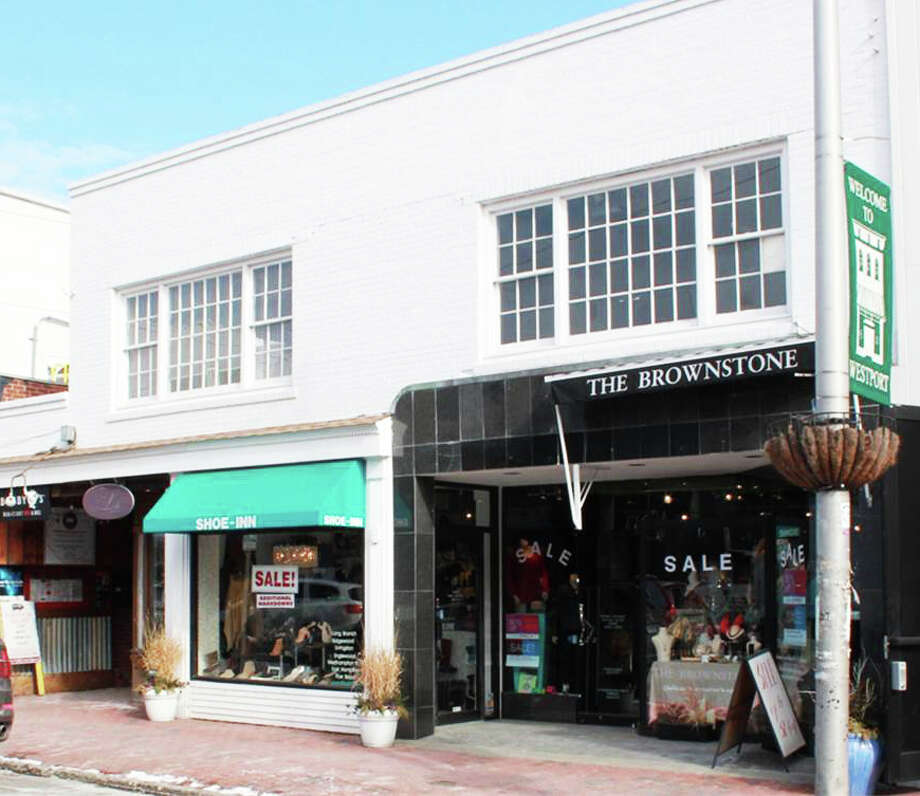 Property at 36-42 Main St. sold recently for $9.2 million. Current tenants include Brownstone, Shoe Inn, Lili Design, Born to Explore and Bobby Qís Restaurant. Photo: Contributed Photo / westport news