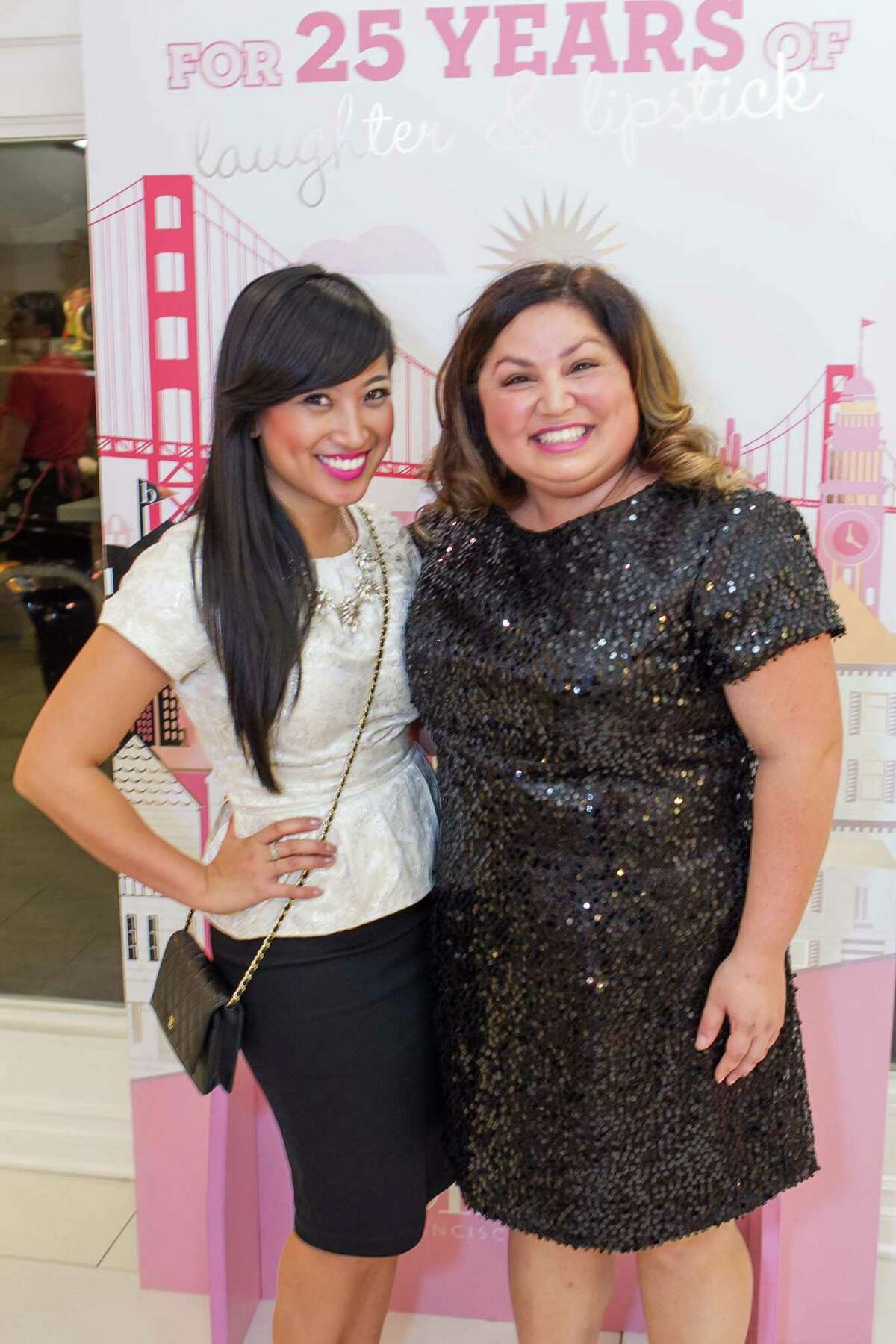 Monica Chieng and Michelle Avedissian at the 25th anniversary celebration for Benefit Cosmetics' San francisco stores.