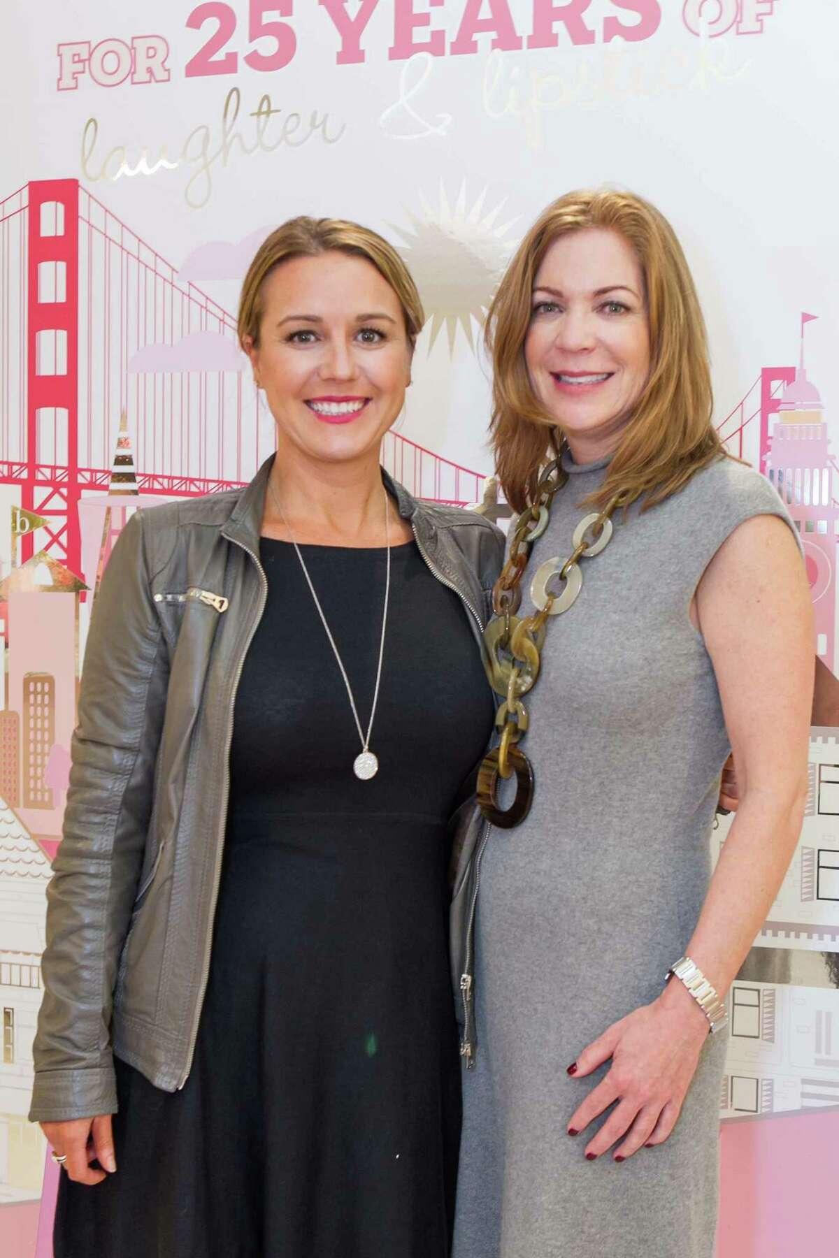 Megan Gordon and Lisa Edwards at the 25th anniversary celebration for Benefit Cosmetics' San francisco stores.
