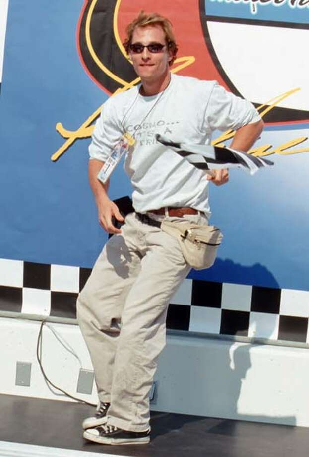 Editor's note: There are three ratings given for Matthew McConaughey fashion. (1) Just alright, (2) Alright, alright, alright, and (3) All wrong.McConaughey knew fanny packs were cool back in 1998, long before he brought them back AGAIN in 2014.   Rating: All wrong Photo: Jim Smeal, Getty Images / Ron Galella Collection