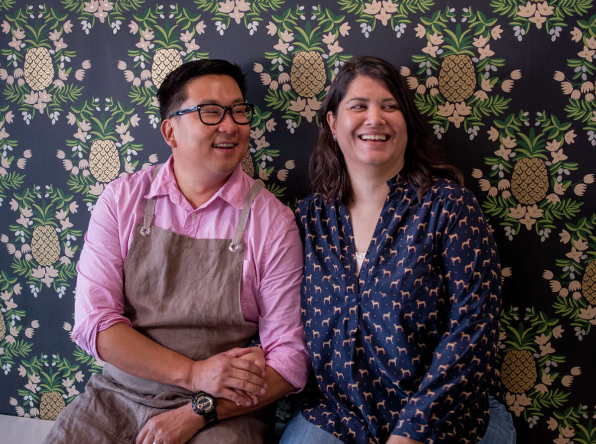 Nick Cho and Trish Rothgeb own Wrecking Ball Coffee Roasters in San Francisco.