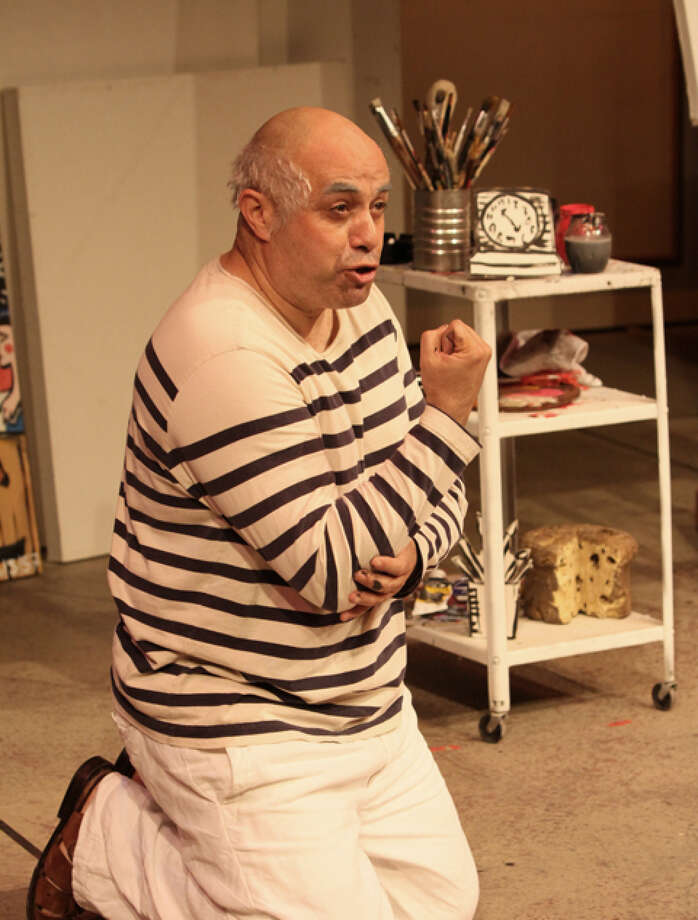 "Herbert Siguenza as Pablo Picasso in his play ""A Weekend With Pablo Picasso."" Photo: Hector Cruz Sandoval"