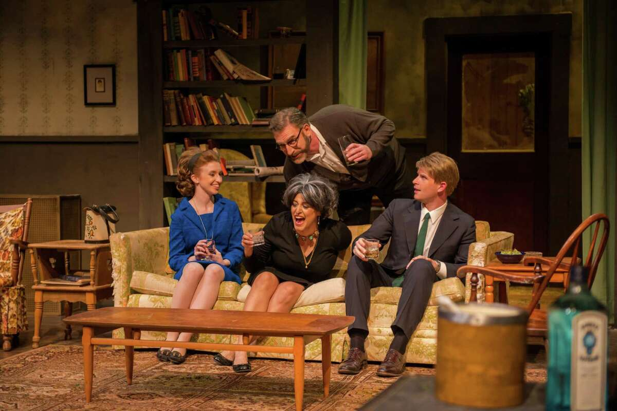 David Connelly (standing), Sarah Nixon (seated from left), Gloria Sanchez-Molina and Tyler Keyes starred in AtticRep's reprise of