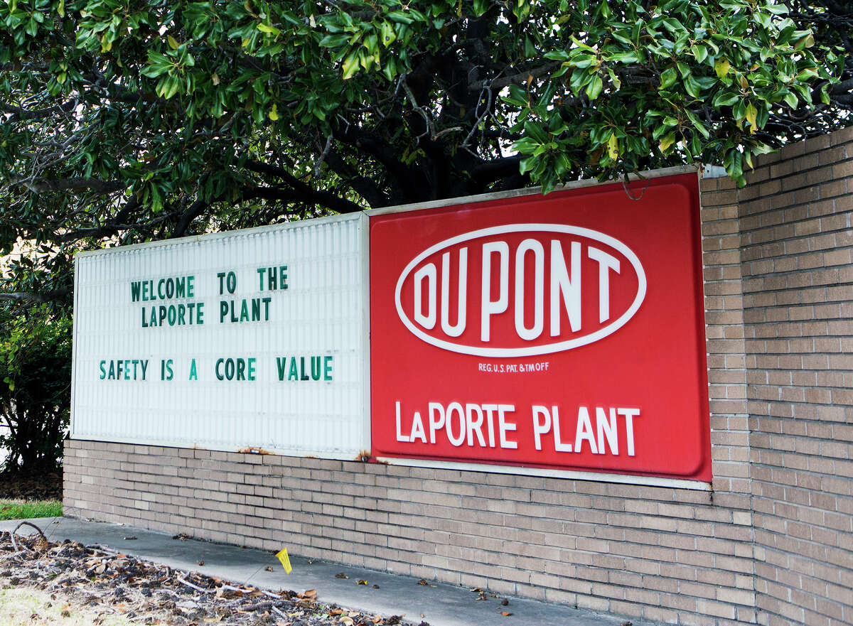 This undated image shows signage at the DuPont Facility in La Porte, Texas. Four workers were killed and one was injured Saturday, Nov. 15, 2014, during a hazardous chemical leak at the suburban Houston plant, company officials said. (AP Photo/Houston Chronicle, Marie D. De Jesus)