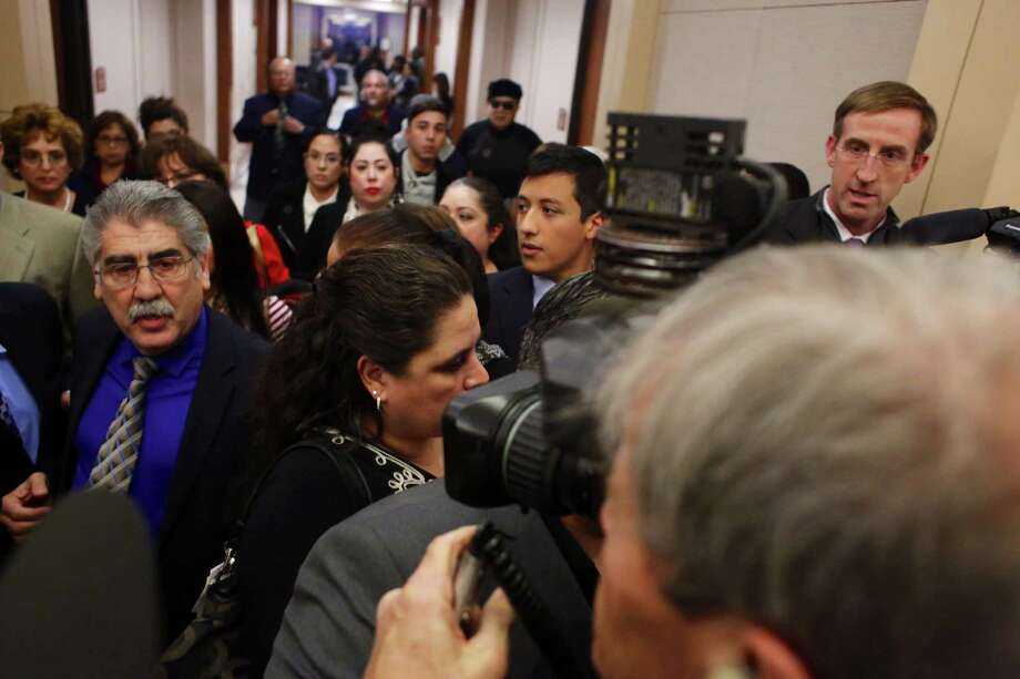 Former Harris county Precinct 6 constable Victor Trevino, who pleaded guilty in a public corruption case, was sentenced to 10 years of probation and fined $1,000,community service with restitution to be determined on Monday, Nov. 17, 2014. Photo: Johnny Hanson / Houston Chronicle
