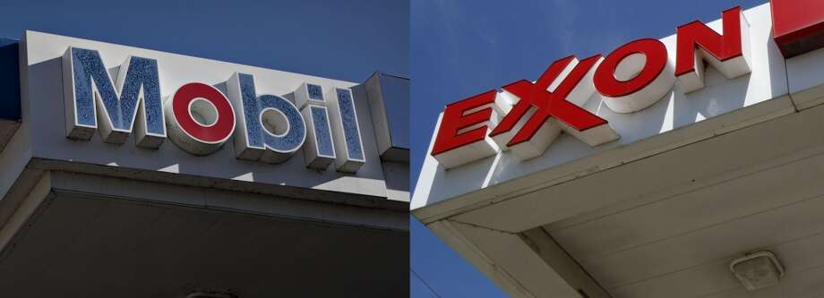 1998, Exxon and Mobil merge $80.3 billion stock deal Photo: Daniel Acker, Bloomberg