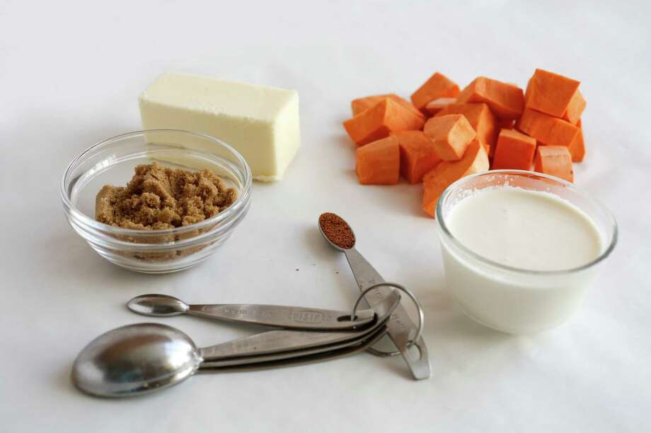 Ingredients for Sweet Potato Puree with Brown Sugar and Cream. Photo: Craig Lee / ONLINE_YES