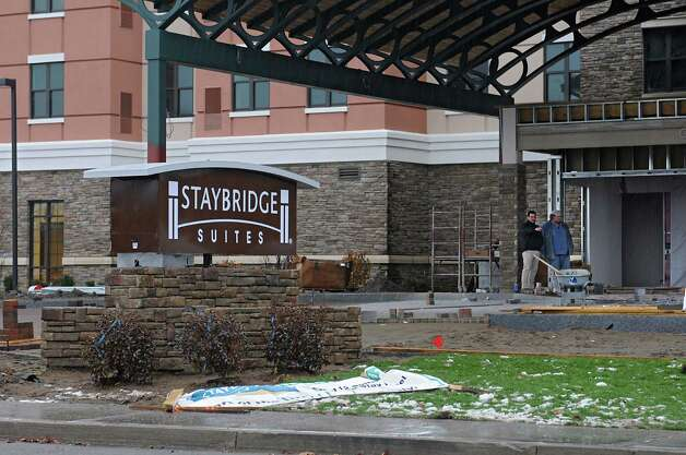 Staybridge Suites near Colonie Center are nearly complete Monday, Nov. 17, 2014 in Colonie, N.Y. They are slated to open next month. (Lori Van Buren / Times Union) Photo: Lori Van Buren / 00029515A