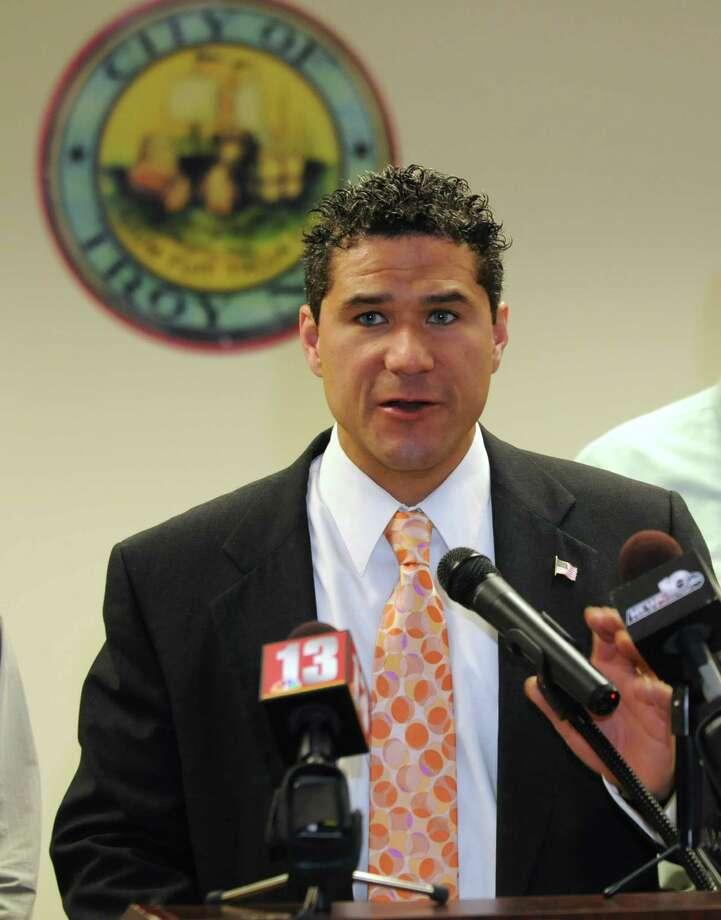 Councilman Ken Zalewski says Troy City Council President Rodney Wiltshire overheard the alleged threat. (Lori Van Buren / Times Union) ORG XMIT: MER2014110720294044 Photo: Lori Van Buren / 00026866A