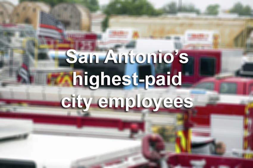 Many of San Antonio's civil servants are among the highest earners in the city. Click through the gallery for the top 20.