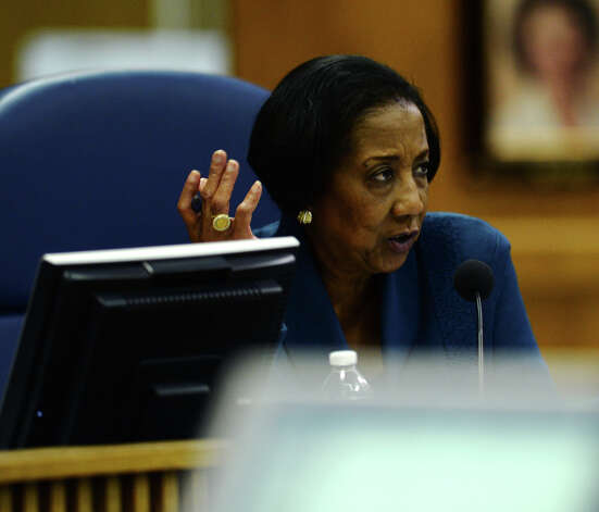 Board of managers member Vernice Monroe asks a question during Monday's regular meeting. The Beaumont Independent School District board of managers met Monday night in their regular meeting. Photo taken Monday 11/17/14 Jake Daniels/The Enterprise Photo: Jake Daniels / ©2014 The Beaumont Enterprise/Jake Daniels