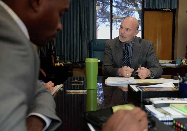 Superintendent Vern Butler talks Tuesday about a Texas Education Agency audit claiming false attendance records at several BISD schools.  Photo taken Tuesday, November 18, 2014 Guiseppe Barranco/The Enterprise Photo: Guiseppe Barranco, Photo Editor