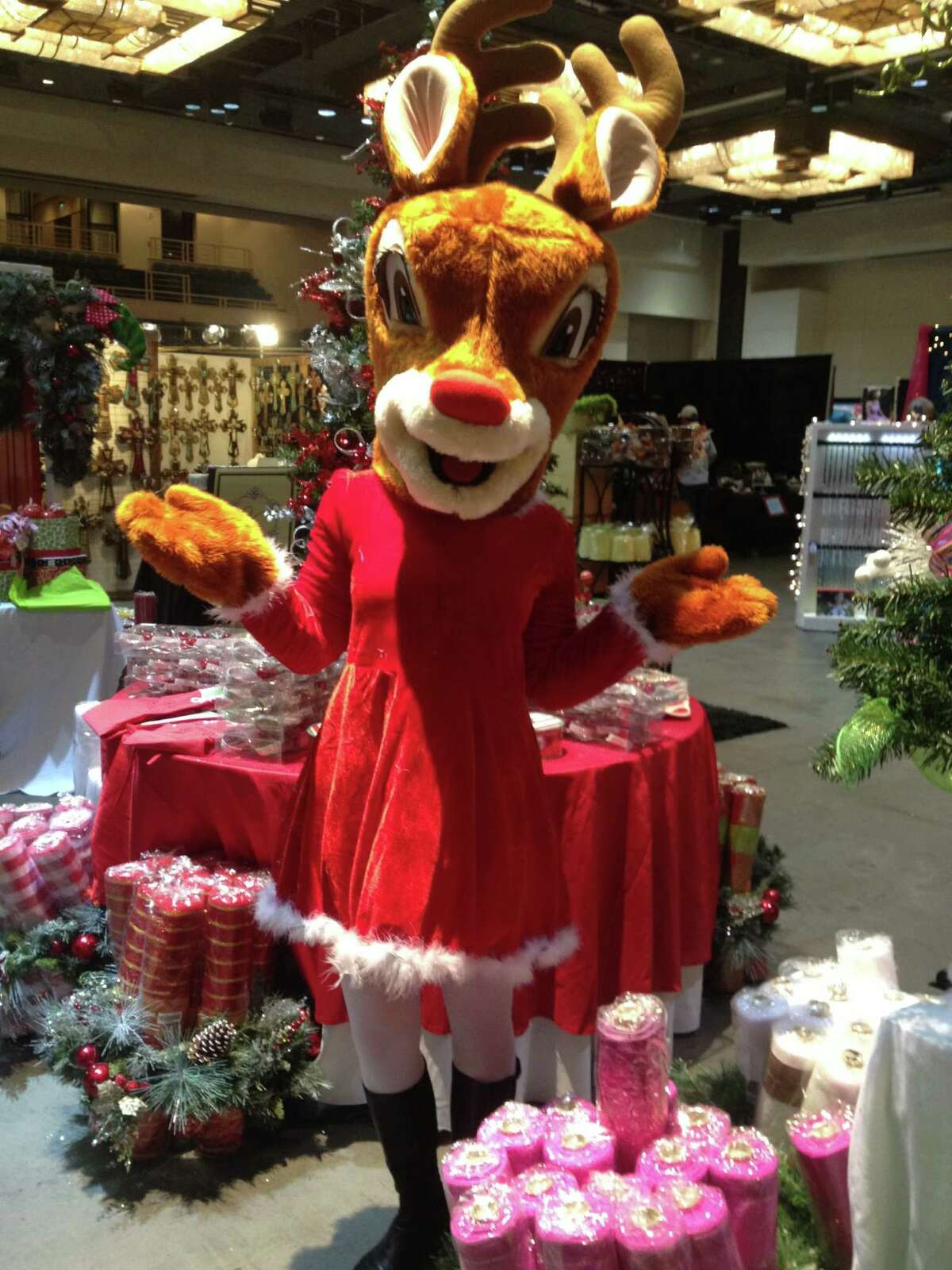 Holly is mascot of the Home for the Holidays Gift Market.