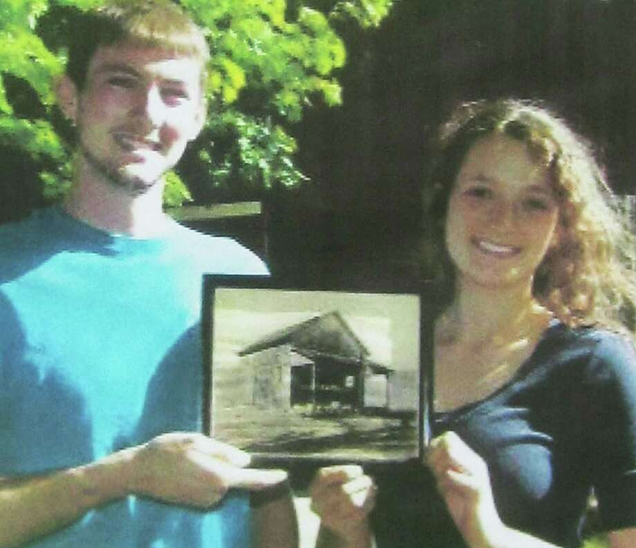 """'Young farmers'  Riva Martin and Graham Baldwin have earned the state Grange's """"Young farmers of the year"""" award for their work at Sullivan Farm along Park Lane (Route 202) in New Milford. Martin and Baldwin have been retained to work Sullivan Farm again in 2015. October 2014          Courtesy of Riva Martin Photo: Contributed Photo, Norm Cummings / The News-Times Contributed"""