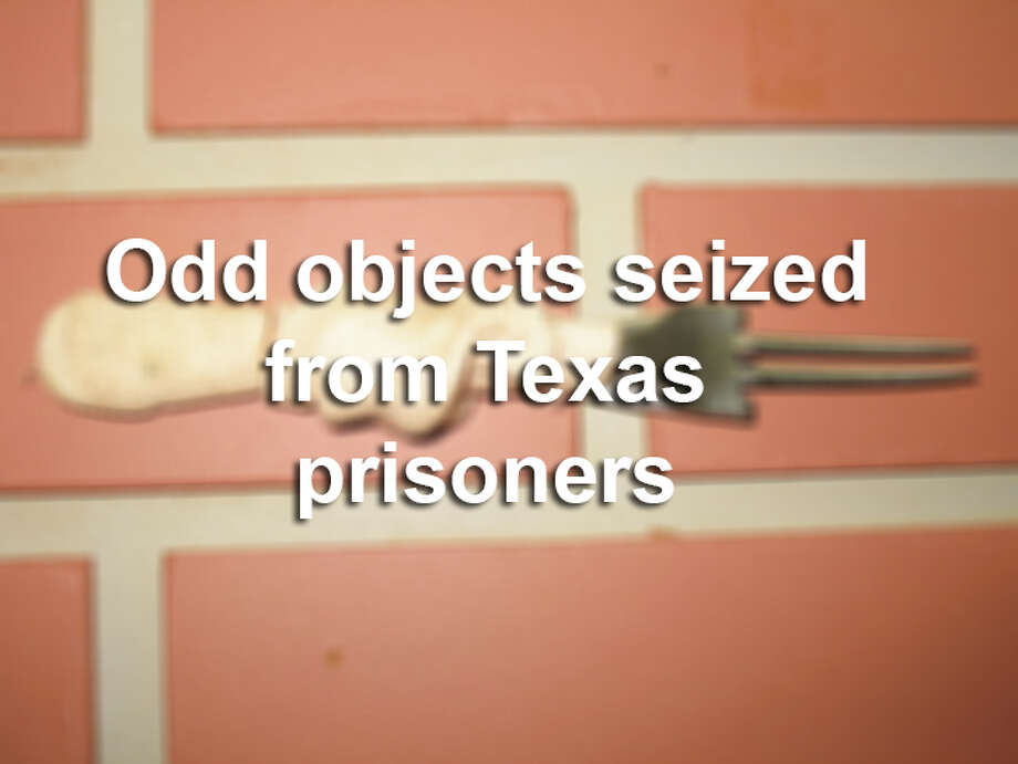 Prison officials have seized some strange weapons from Texas inmates over the years.