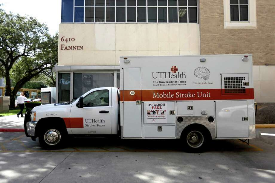 The first mobile stroke unit in the United States began operating last spring in Houston, where officials from the University of Texas Health Science Center outfitted a donated ambulance with a CT scanner and other equipment. Photo: Gary Coronado, Staff / © 2014 Houston Chronicle