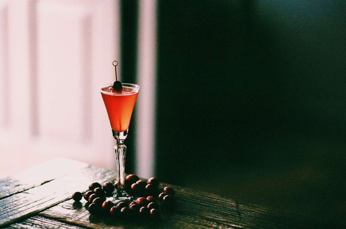 The Red Wedding- $9 Gin, Cranberry Doug Fir Shrub, Topped with Sparkling Wine