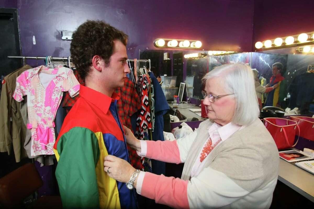 Costumer Elaine Steinbach says the plot in