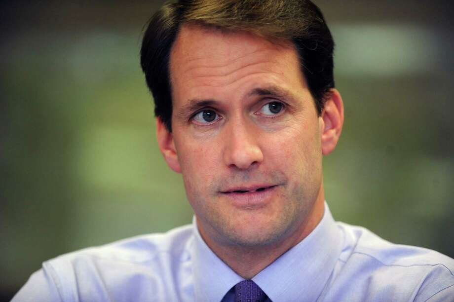 Congressman Jim Himes, Democrat, U.S. Representative for Connecticut's 4th congressional district meets with the Hearst Connecticut Media editorila board in Bridgeport, Conn. Thursday, Oct. 16, 2014. Photo: Cathy Zuraw / Connecticut Post