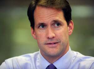 Congressman Jim Himes, Democrat, U.S. Representative for Connecticut's 4th congressional district meets with the Hearst Connecticut Media editorila board in Bridgeport, Conn. Thursday, Oct. 16, 2014.