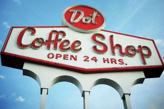 Dot Coffee Shop sign. (Photo by Molly Block.)