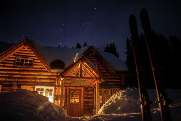 Even visitors to remote Skoki Lodge, tucked away in the Canadian Rocky Mountains, may find all the trappings of seasonal celebration on full display.