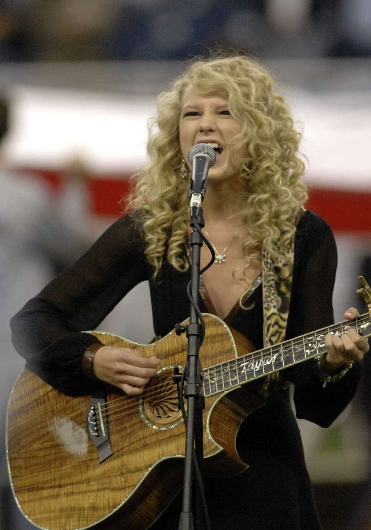 Taylor Swift was born on Dec. 31, 1989 in Reading, Penn. One of her first gigs was singing the National Anthem at age 12 at a Philadelphia 76ers game in 2002. She's pictured at age 16 in November of 2006.