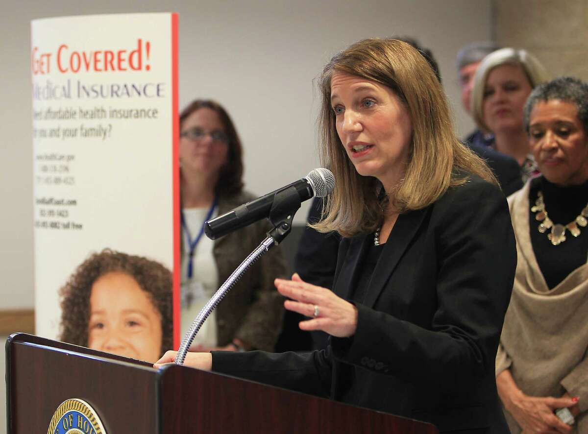 Health and Human Services Secretary Sylvia Burwell, shown last month in Houston, says that