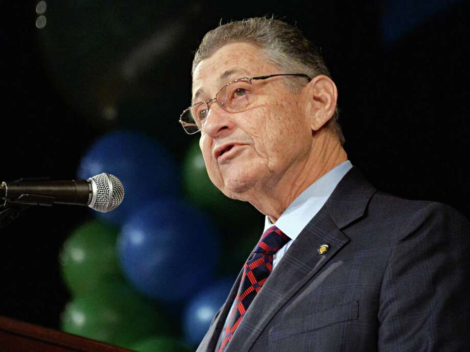 NYS Assembly Speaker Sheldon Silver speaks at New York AFSCME's annual Albany Lobby Day lunch Tuesday, March 4, 2014, at the Empire State Convention in Albany, N.Y.  (John Carl D'Annibale / Times Union) Photo: John Carl D'Annibale / 00025993A