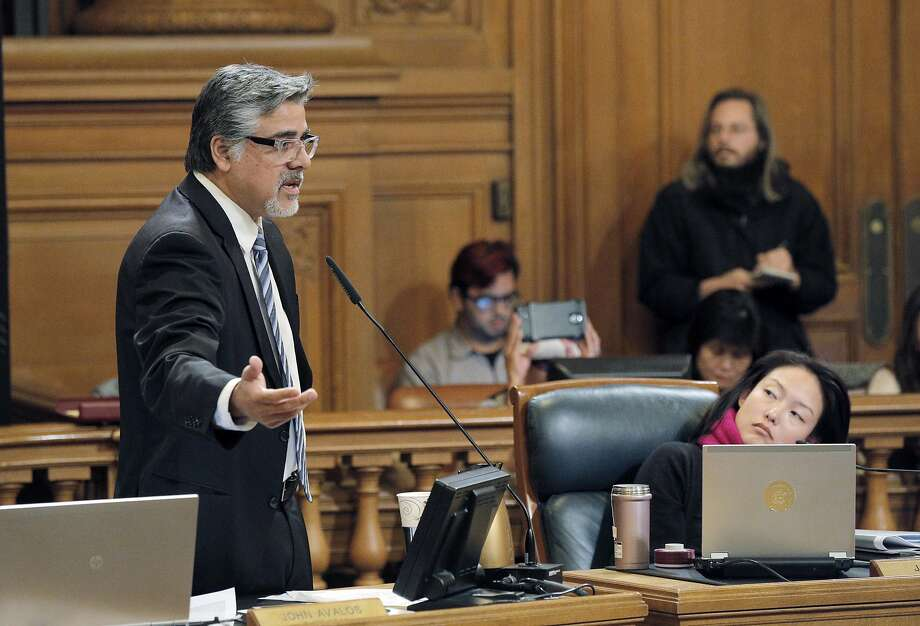 Supervisor John Avalos called for a hearing on deadlocked negotiations with PG&E over a power transmission agreement with the city. Photo: Carlos Avila Gonzalez, The Chronicle