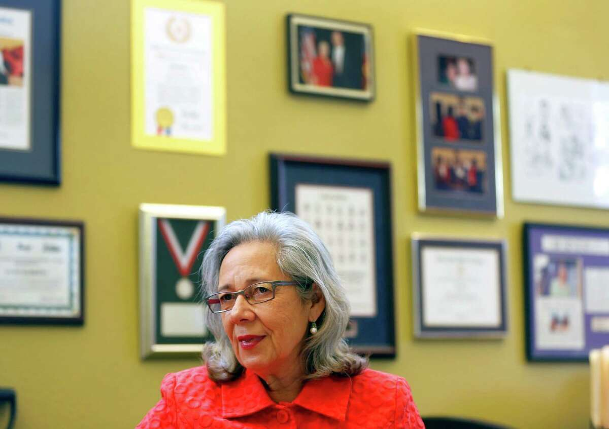 Janie Barrera, CEO of Accion Texas, talks Tuesday Nov. 18, 2014, about the organization's pending name change and upcoming move to a new headquarters building.