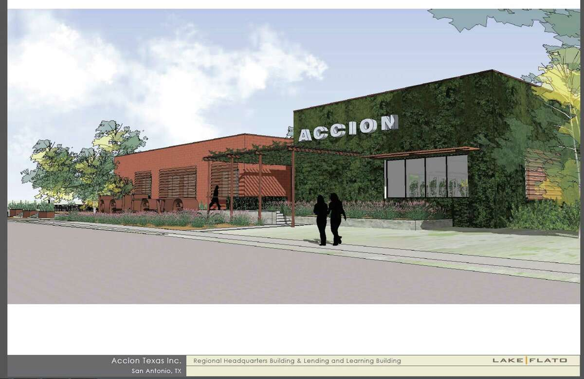 An artist's rendering shows what microlender Accion Texas' headquarters will look like.
