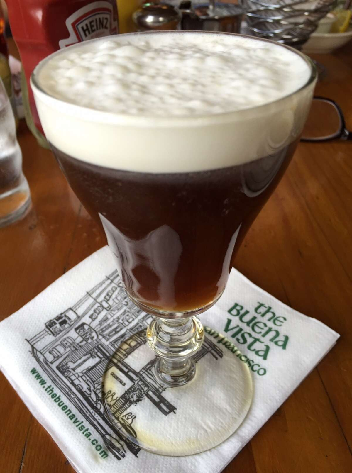 The famous Irish coffee as it looks today ($9).