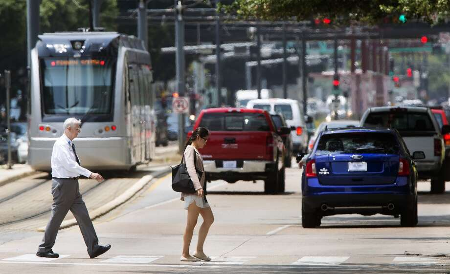 The Texas Medical Center can be especially problematic for pedestrians. Photo: Houston Chronicle